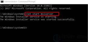 Перезапуск сервиса Установщика Windows.
